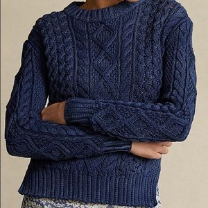 Polo Ralph Lauren Aran-Knit Merino Wool Sweater